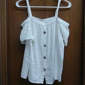 🆕Off the shoulders linen top